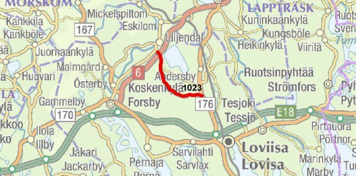 Tie 1761 Liljendalista Hardomiin Asfaltoidaan Kesalla Loviisan