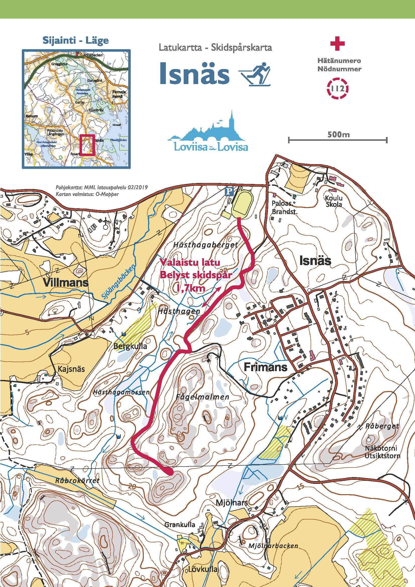 Loviisa Pellinki Kaunissaari Water Touring Map 1 60 000
