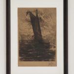 Emil Zoir, Ruotsi. Purjevene. 1910, etsaus