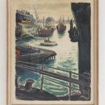 Gustav Alexandersson, Ruotsi. Satama (Tukholma). 1950-luku, litografia