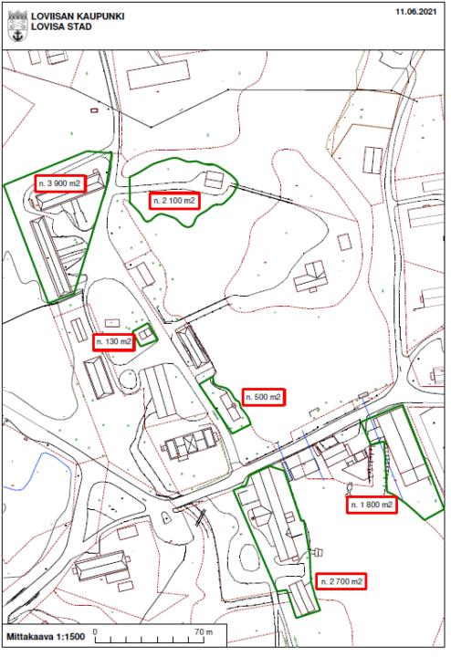 Liite 1. Strömforsin ruukki - myynti-ilmoitus - kartta 2021 Bilaga 1. Strömfors bruk - försäljningsannons - karta